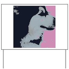 Malamute Dog Pop Art Yard Sign