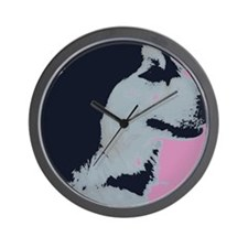 Malamute Dog Pop Art Wall Clock