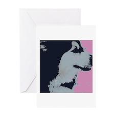 Malamute Dog Pop Art Greeting Card