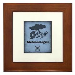 Meteorologist Framed Tile