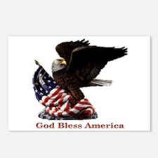 God Bless America Eagle Postcards (Package of 8)