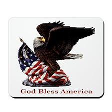 God Bless America Eagle Mousepad