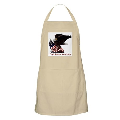 God Bless America Eagle BBQ Apron