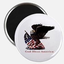 God Bless America Eagle Magnet
