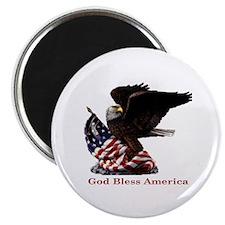 "God Bless America Eagle 2.25"" Magnet (10 pack)"