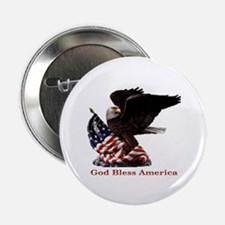 """God Bless America Eagle 2.25"""" Button (10 pack)"""