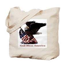 God Bless America Eagle Tote Bag