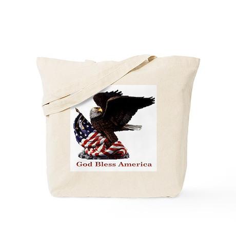 God Bless America Eagle Tote Bag