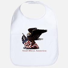 God Bless America Eagle Bib