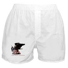 God Bless America Eagle Boxer Shorts
