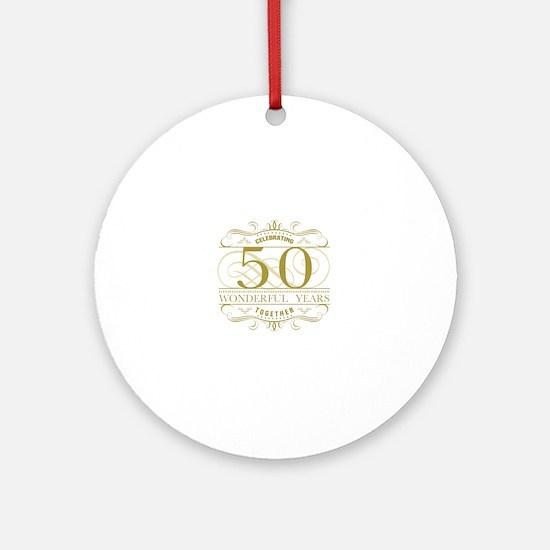 Unique Golden anniversary Round Ornament