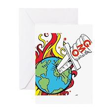 GMO Killing the World Greeting Card