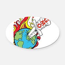 GMO Killing the World Oval Car Magnet