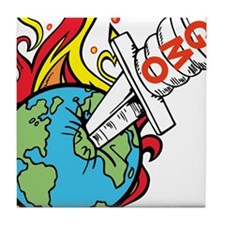 GMO Killing the World Tile Coaster