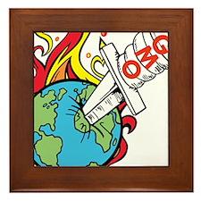 GMO Killing the World Framed Tile