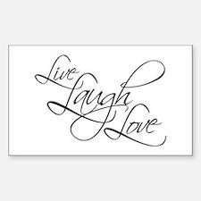 Live, Laugh, Love Rectangular Bumper Stickers
