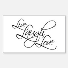 Live, Laugh, Love Rectangular Decal