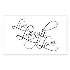 Live, Laugh, Love Rectangular Stickers