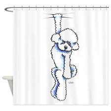 Clingy Bichon Frise Shower Curtain
