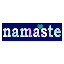 Namaste Heart Bumper Bumper Sticker