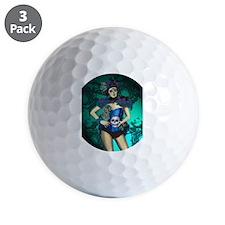 Peacock - dia de los muertos Pin-up Golf Ball