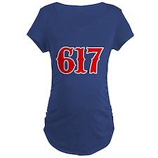 Boston 617 Maternity T-Shirt