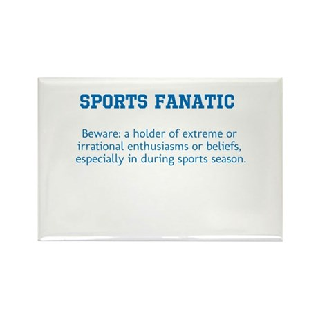 Sports Fanatic Rectangle Magnet (10 pack)