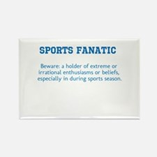 Sports Fanatic Rectangle Magnet