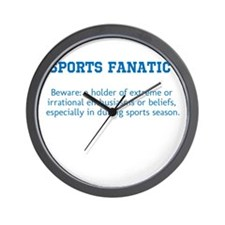 Sports Fanatic Wall Clock