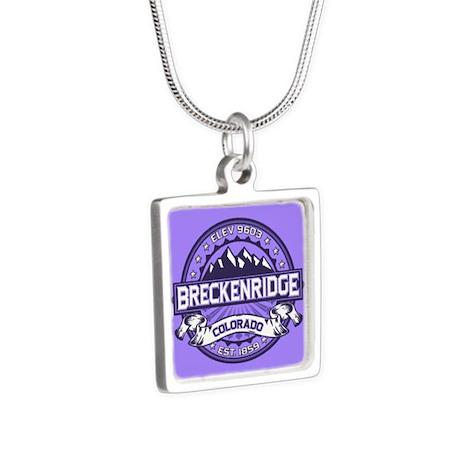Breckenridge Purple Silver Square Necklace