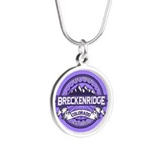 Breckenridge Purple Silver Round Necklace