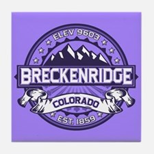 Breckenridge Purple Tile Coaster