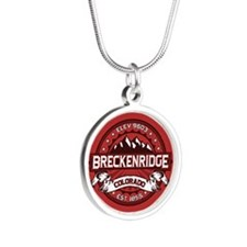 Breckenridge Red Silver Round Necklace