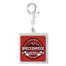 Breckenridge Red Silver Square Charm