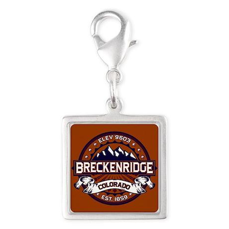 Breckenridge Vibrant Silver Square Charm