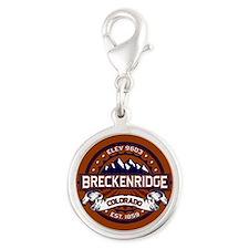 Breckenridge Vibrant Silver Round Charm