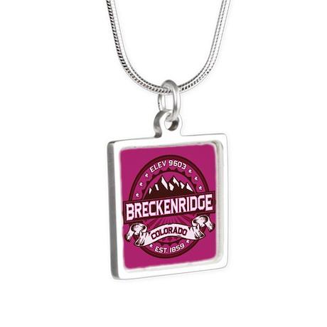 Breckenridge Raspberry Silver Square Necklace