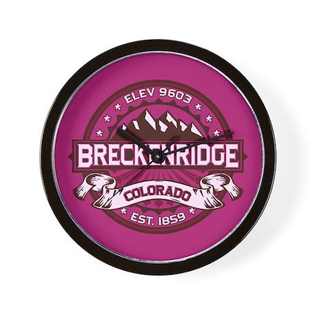 Breckenridge Raspberry Wall Clock