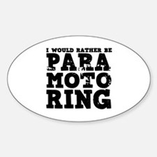 'Paramotoring' Sticker (Oval)