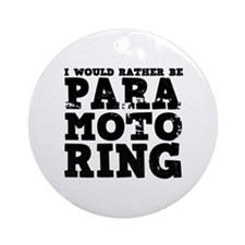'Paramotoring' Ornament (Round)