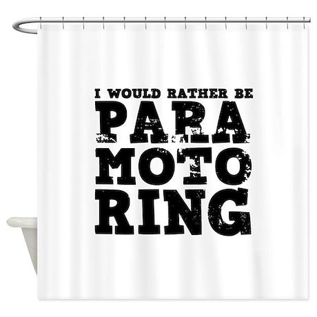 'Paramotoring' Shower Curtain