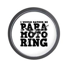 'Paramotoring' Wall Clock