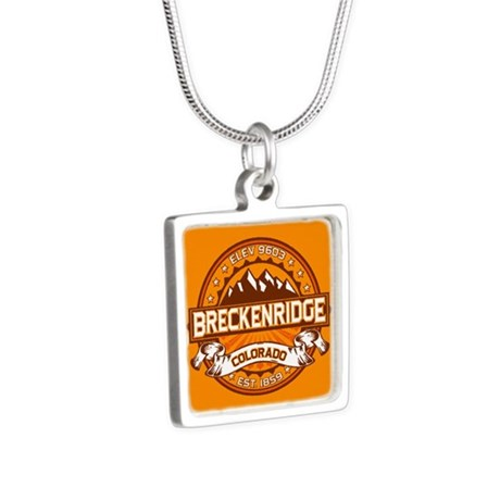 Breckenridge Tangerine Silver Square Necklace