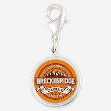 Breckenridge Tangerine Silver Round Charm