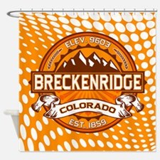 Breckenridge Tangerine Shower Curtain