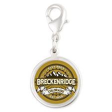 Breckenridge Tan Silver Round Charm