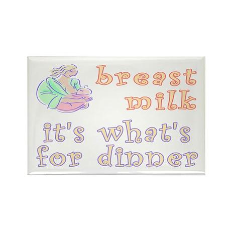 breast milk...dinner - Rectangle Magnet