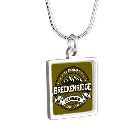 Breckenridge Olive Silver Square Necklace