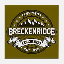 Breckenridge Olive Tile Coaster