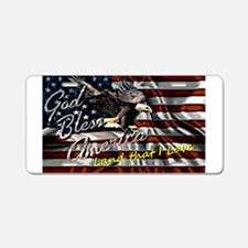 Patriotic T-shirt Aluminum License Plate